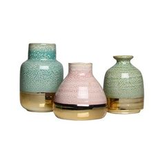 Avant Vase - Set of 3 - Decoration Fireplace Garden art ideas Home accessories Cosy House, Fireplace Garden, Unusual Furniture, Pastel Party, Round Vase, Indoor Plant Pots, Unusual Homes, Ceramic Clay, Vases Decor