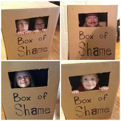 "Despicable Me Party: ""Box of Shame"" Photo Booth"