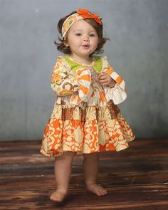 Giggle Moon Baby Thankful Hearts Party Dress