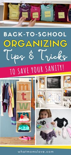 Smart organizing tips for back-to-school every mom needs. Ideas and hacks for your home to make going back to school stress-free for parents and kids. #backtoschool #organizing #hacks Back To School Organization, Back To School Hacks, Back To School Shopping, Going Back To School, School Tips, School Ideas, The New School, New School Year, First Day Of School