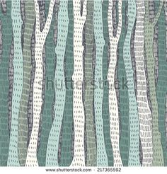 abstract hand drawn background with forest