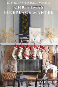 So many simple and low cost DIY ideas to decorate a fireplace mantel for Christmas! I am loving the large wood snowflakes, and the easy to create wreath display. 10 other blogger fireplace mantels really bring the inspiration for the holiday season!