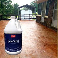 Concrete Acid Stain   Direct Colors Concrete Acid Stain Colors, Acid Stained Concrete, Concrete Bags, Concrete Sealer, Concrete Slab, Cement, Color Effect, Yard Design, Paint Colors For Home