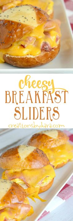 These Cheesy Breakfast Sliders whip up in a snap, and they are incredibly tasty. You can even make them ahead for hectic mornings!