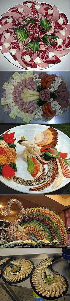 идеи оформления праздничных блюд и нарезки