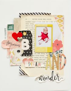 #papercrafting #scrapbook #layout - Be Happy - Scrapbook.com