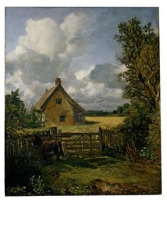 V&A museum: The Cottage in a Cornfield Object: Oil painting  Place of origin: Great Britain (probably, painted)  Date: ca. 1817-ca.1833 (painted)  Artist/Maker: John Constable (artist)  Materials and Techniques: oil on canvas