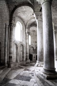 The etherial Sant'Antimo abbey near Montalcino in Tuscany. With perfect Romanesque architecture, the beauty of this abbey impacts all who enter. @Capturing la Vita