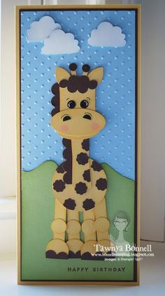From My Pad to Yours: Punch Art Giraffe