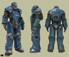 New concept art for a modified power armor to be included in the overhaul mod Fallout: Cascadia.