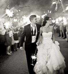 I absolutely LOVE the idea of having sparklers for the grand exit of the bride and groom. It looks so good in pictures and there is something so fun and magical about it. I definitely want sparklers at my wedding! Wedding Send Off, Wedding Exits, Before Wedding, Wedding Bells, Wedding Photos, Wedding Vendors, Destination Wedding, Perfect Wedding, Dream Wedding
