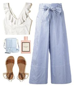 """""""breeze"""" by oogenfly ❤ liked on Polyvore featuring Hollister Co., By Malene Birger, Gucci and Milly"""