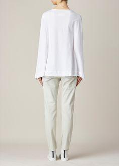 Maison Margiela Caped Jersey Top (White)