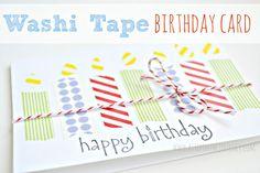 DIY Washi Tape Birthday Cards & other fun washi ideas at http://www.astepinthejourney.com