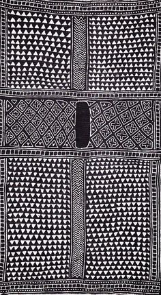 Patternatic - indigo fabric redesigned for a kaftan with different patterns running down sleeve etc determines sizew dipdye underneath