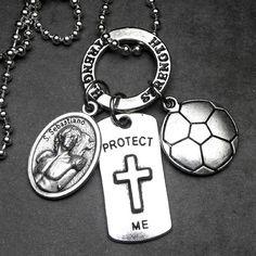 SOCCER Athletes Patron Saint Sebastian Catholic by 12StarsJewelry St Sebastian, Patron Saints, Athletes, Catholic, Soccer, Personalized Items, Unique Jewelry, Handmade Gifts, Etsy