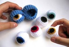 Amigurumi Eyes Pattern : How to make lively eyes for amigurumi or crochet toys free pattern