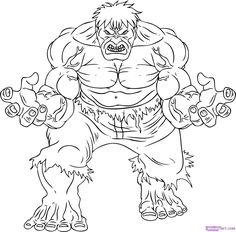 Kleurplaten Incredible Hulk The