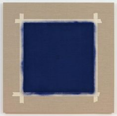 Square with Ultramarine Blue Paint II (2)   From a unique collection of abstract paintings at https://www.1stdibs.com/art/paintings/abstract-paintings/