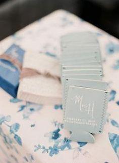 Blue Monogram Wedding Koozie Favor Ideas | #weddingkoozies #koozie #koozies #bluekoozies #blueweddingideas #weddingfavors #weddinggifts