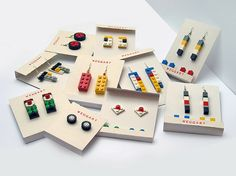 I love wearable LEGO - so easy to adapt to match your mood and outfit.  (these are by Weggart).