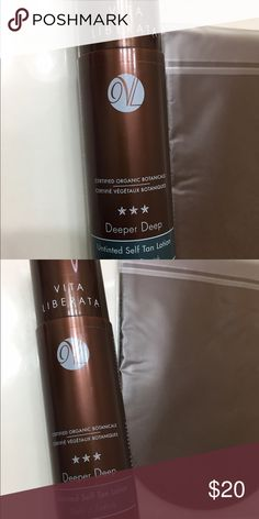 ☀️☀️VITA LIBERATA self tanner☀️ +mitt applicator Organic, used only once, leave the skin very soft.  Gives the longest lasting tan result with an added skincare treatment for the most natural looking golden skin. Don't moisturize or use moisturizing shower creams in 24hrs prior to use. Apply to exfoliated skin with a tan mitt. ☀️ Other