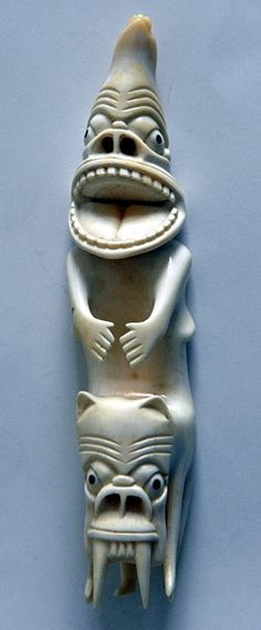 Greenlandic tupilaks are traditional magic figures made from bone, antlers, claws, tusks, stone, or precious metals. These often-grotesque statues are used to curse or magically kill enemies