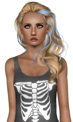 Newsea`s Millet Streaked hairstyle retextured by Plumb Bombs for Sims 3 - Sims Hairs - http://simshairs.com/newseas-millet-streaked-hairstyle-retextured-by-plumb-bombs/