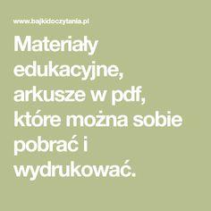 Teacher Websites, Cool Websites, Education, Kids, Aga, Polish, Printables, Speech Language Therapy, Young Children