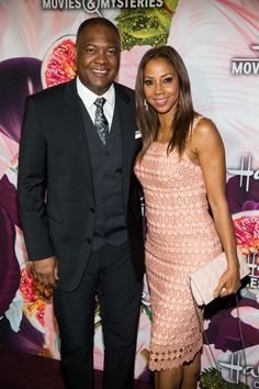 """Holly Robinson Peete and Rodney Peete star in a new family show """"Meet the Peetes,"""" premiering February 18 at (Hallmark Channel & Hallmark Movies & Mysteries TCA Black Actors, Black Celebrities, Beautiful Celebrities, Beautiful People, Celebs, Black Celebrity Couples, Black Couples, Celebrity Photos, Black Love"""