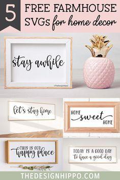 Diy Craft Projects, Diy Crafts, Cricut Svg Files Free, Cricut Fonts, Digital Print, Sweet Home, Cricut Tutorials, Cricut Ideas, Room Wall Decor
