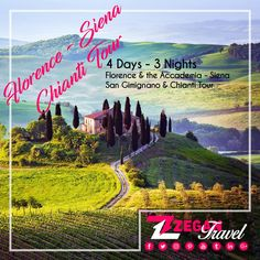 Florence & Chianti Tour(4 Days -3 Nights) *Florence -Accademica Tour -Siena -San Gimignano - Chianti *Airport Transfers *Guided Daily Tours Contact us now info@zegantravel.com http://www.italytourpackage.com/en/tour_packages/florence_packages/274/florence-&-the-accademiasiena-san-gimignano-&-chianti-tour.html #italy #italytour #italytravel #europe #europetour #europetravel #florence #florencetour #florencetravel#AccademicaTour #Siena #SanGimignano #Chianti