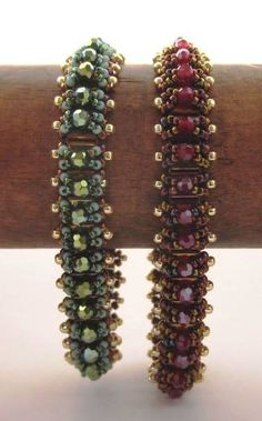 Noughts and Crosses Beadwoven Bracelet Tutorial by PeregrineBeader, $6.00