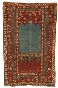 A Ladik prayer rug, Central Anatolia approximately 5ft. 10in. by 3ft. 9in. (1.78 by 1.14m.) third quarter 19th century | sotheby's n09323lot000202740230011000en