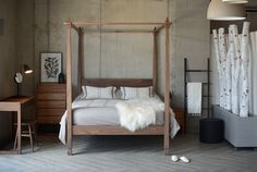 Have a large master bedroom? Check-out these beautiful, solid wood four poster beds.