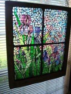 Iris Stained Glass mosaic
