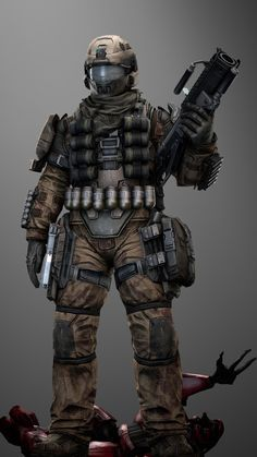 UNSC Grenadier by SuperNinjaNub