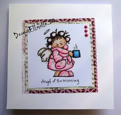 Whipper, Angel in the morning, stamp, card