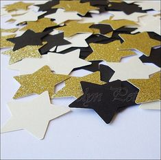 Your star theme baby shower or first birthday party will sparkle with blue and gold confetti! Scatter on reception, dessert or cake tables for an instant touch of glam to a twinkle, twinkle little sta