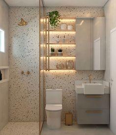 """Ideias para banheiros on Instagram: """"💡Inspiração de banheiro. O que vocês acharam? ❤️ ⠀⠀⠀⠀⠀⠀⠀⠀⠀ 📏 Projeto: Ângela Silva Arquiteta ⠀⠀⠀⠀⠀⠀⠀⠀⠀ 👉🏼 Conheçam também:…"""" Bungalow, Bathtub, House, Instagram, Furniture, Home Decor, Bathroom Ideas, Bathrooms, Toilet Decoration"""
