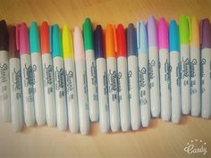 Markers, Office Supplies, Sharpies, Storage Ideas, Planners, Coloring, Image, Pens, Organization Ideas