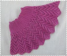 Click to view pattern for - Crochet pink skirt for girl