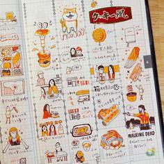 いいね!835件、コメント21件 ― Littleluさん(@littlelu_lu)のInstagramアカウント: 「- 先週の 写真撮るの忘れてた! 来週も頑張ろう٩(๑`^´๑)۶ . . 大概是上礼拜太平淡 照片也忘了拍… 晚安 . . . #ジブン手帳 #ほぼ日 #手帳」 Sketch Journal, Journal Diary, Journal Layout, Journal Pages, Bullet Journal Japan, Bullet Journal Ideas Pages, Bullet Journal Inspiration, Notes Taking, Bookbinding