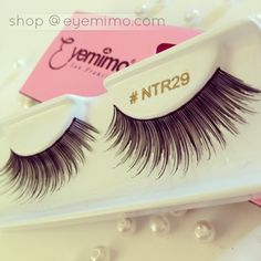 Happy Monday!  Pic of the day, false eyelashes style #NTR29. We love pearls here.  With love, EYEMIMO.com
