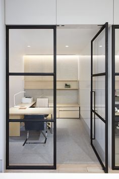 Private office at Financial company office in New York City