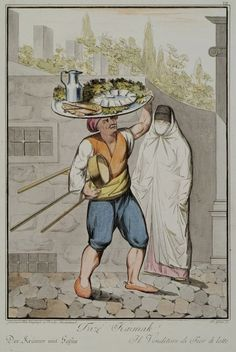 Itinerant seller of kaymak cream, Istanbul. Athens Map, The American School, Southern Italy, Ad Art, Oriental Fashion, Islamic Art, Costume, Sheep, Istanbul
