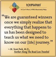 We are guaranteed winners once we simply realize that everything that happens to us has been designed to teach us what we need to know on our [life] journey. – M. Scott Peck, Further Along The Road Less Traveled