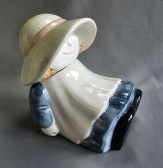 Bonnet Girl Cookie Jar made in USA by Treasure Craft