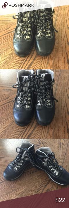 Timberland Mens Size 7.5 Euro Hiker Black Mid Lace Timberland Mens Size 7.5 Euro Hiker Black Mid Lace Up Hiking Boots Shoes Timberland Shoes Boots