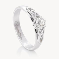 oona knot ring solitaire httpwwwcelticpromisecomp